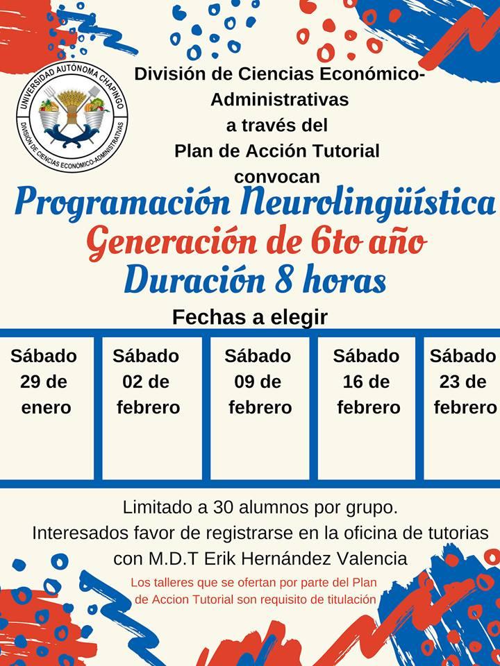 Programación Neurolingüística Generación de 6to año