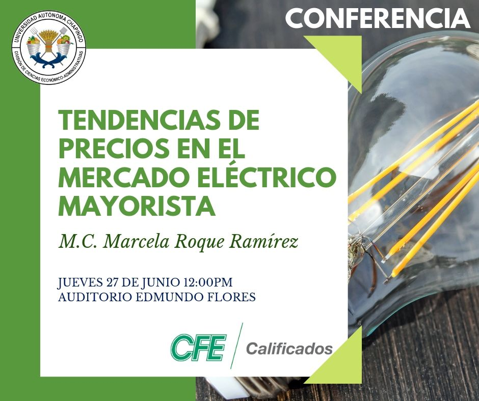 Conferencia: Tendencias de precios en el mercado eléctrico mayorista.