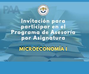 Invitación programa de asesorías por asignatura (Microeconomia I)