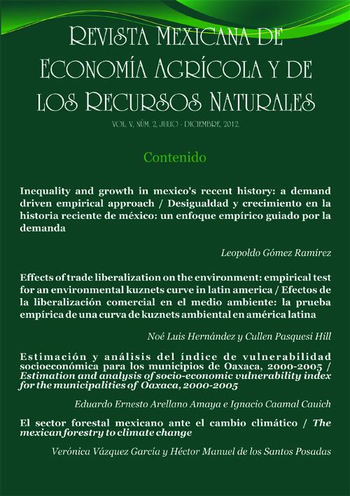 Revista Mexicana de Economía Agrícola y de los Recursos Naturales