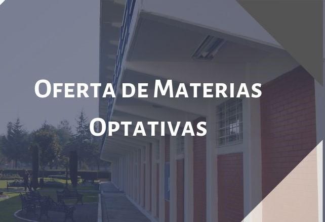 Oferta de Materias Optativas