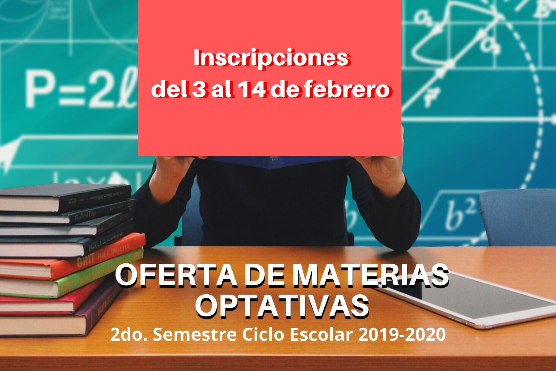 Oferta de Materias Optativas 2019-2020-II