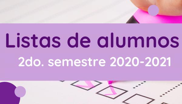 Listas 2do. semestre 2020-2021