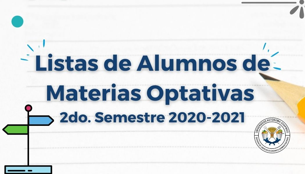 Listas de Alumnos de Optativas 2do. semestre 2020-2021