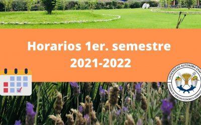 Horarios 1er. semestre 2021-2022