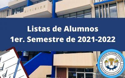 Listas 1er. semestre 2021-2022